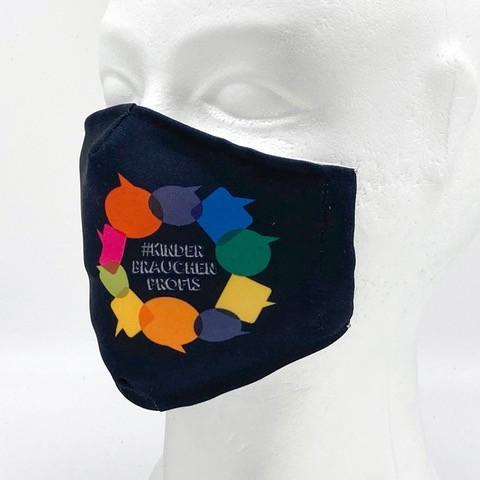 Stylemask - Mund-Nasen-Maske mit eigenem Firmenlogo - Kinder brauchen Profis schwarz